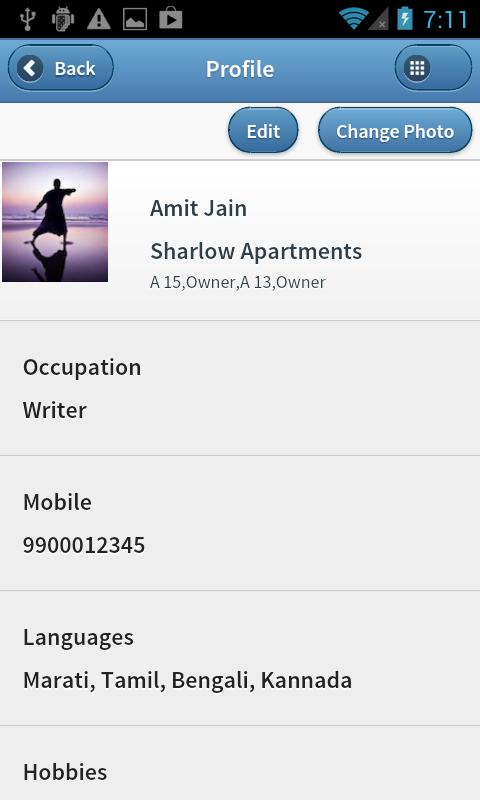 Housing Society App - Profile