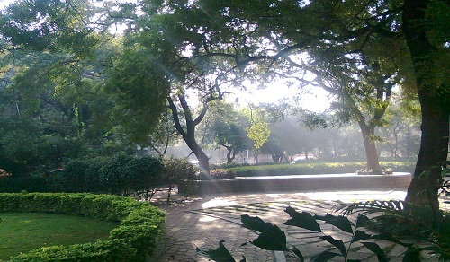 Sunrise over Neem Park
