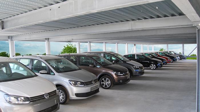 car, park, VW,