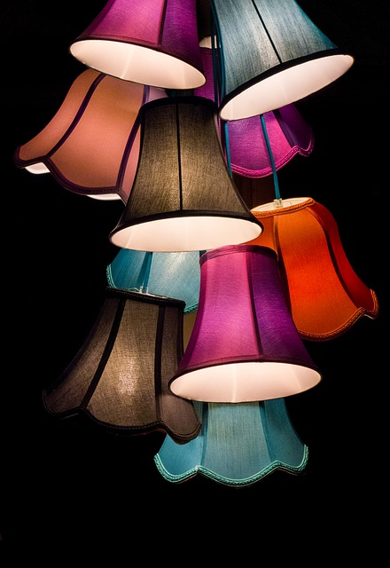 lamps, colorful, bulbs