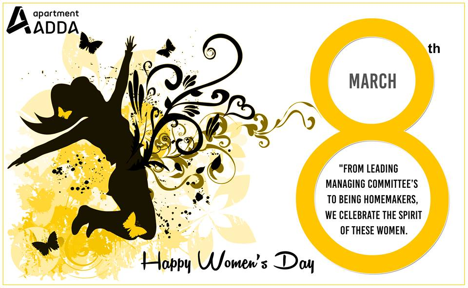 womens day, managing committee, housing society, apartment adda