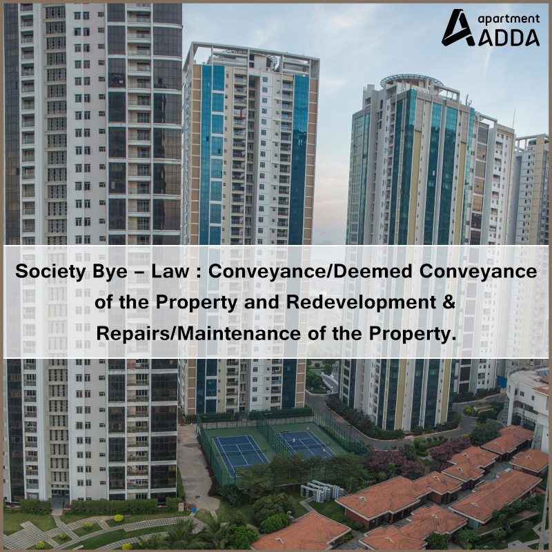 society, bye-law, redevelopment, conveyance, deemed conveyance