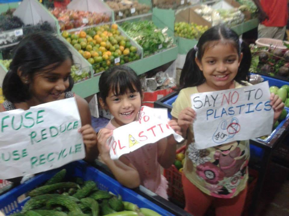 SJR Verity, bangalore, anti plastic campaign, kids