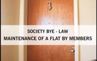 maintenance, flat, society, bye-law, maharashtra, mumbai