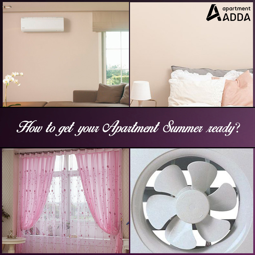 Summer, Apartment, home, walls, curtains, fans, AC