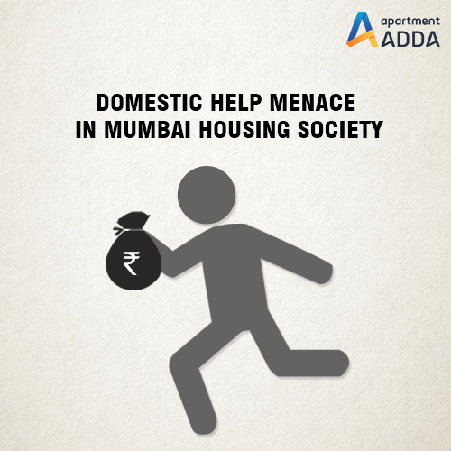 housing society, malad, domestic help, robbery, adda gatekeeper app, security
