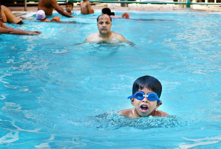 Swimming pools are fun!