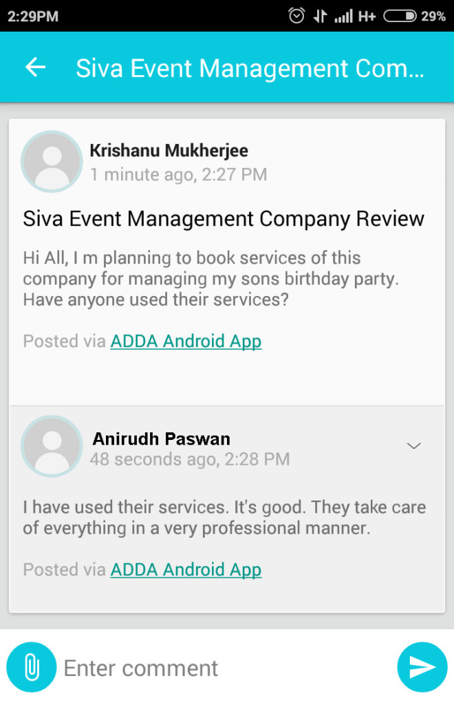 ADDA's Conversation Feature