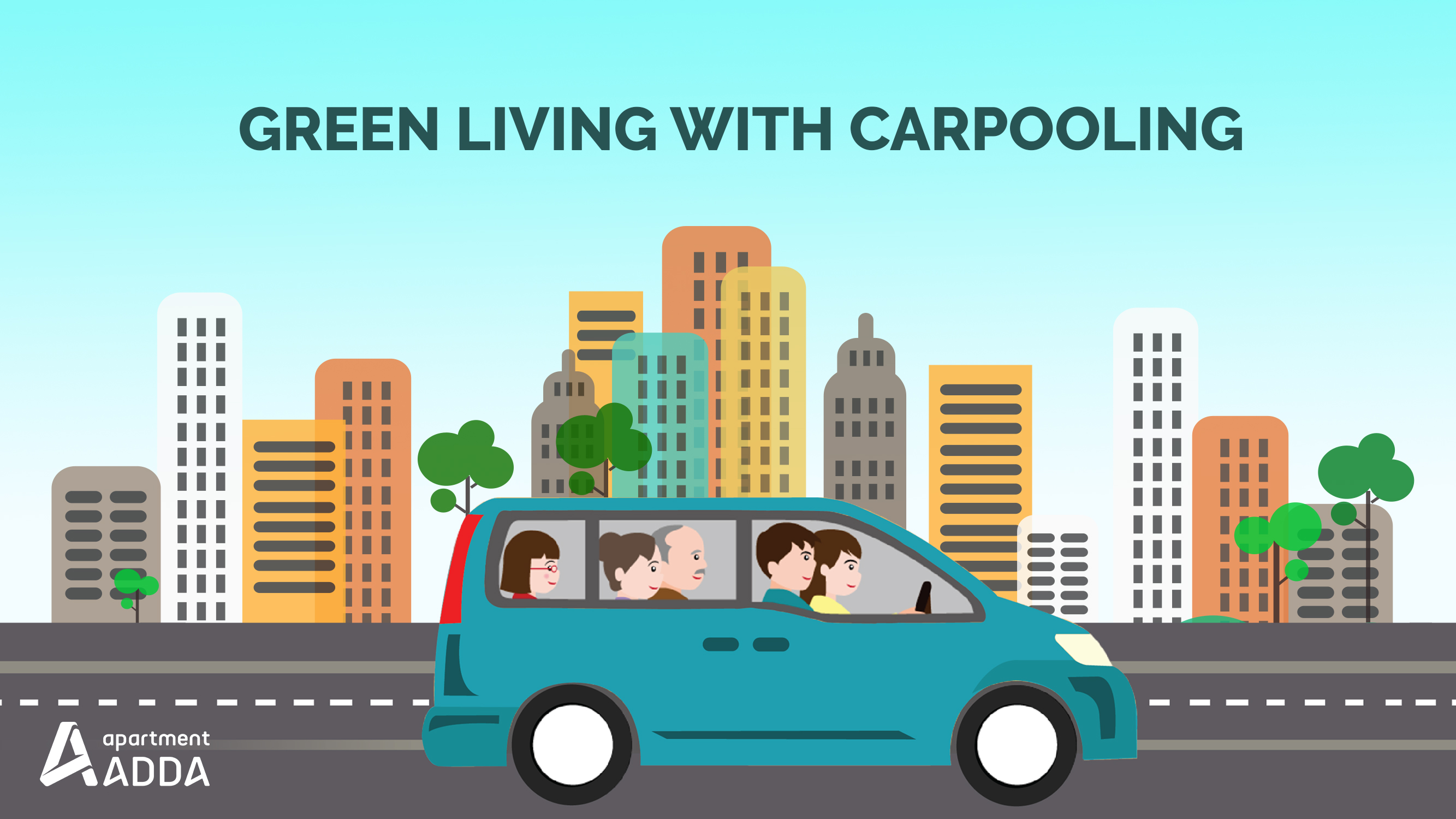 Green Living With Carpooling Using Adda