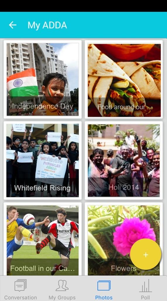 Photos and Albums in ADDA App