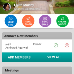 Admin App Dashboard which for Management Commitee or Association members gives view of members to be approved, meetings, etc.