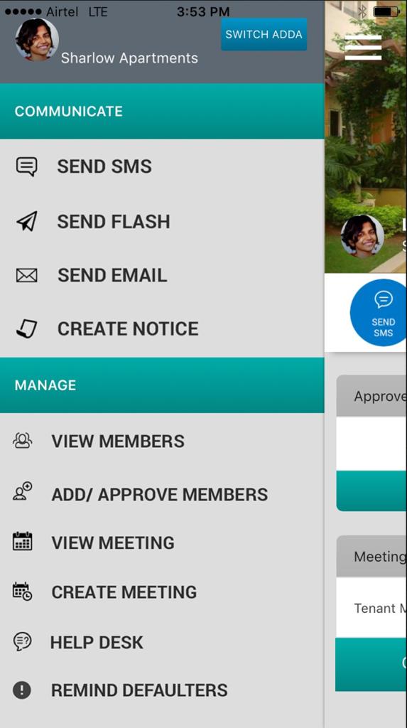 Admin App Menu