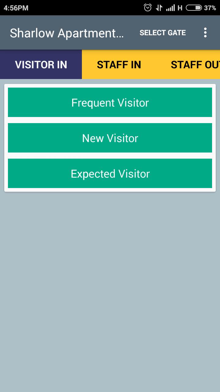 Gatekeeper App - Visitor check in