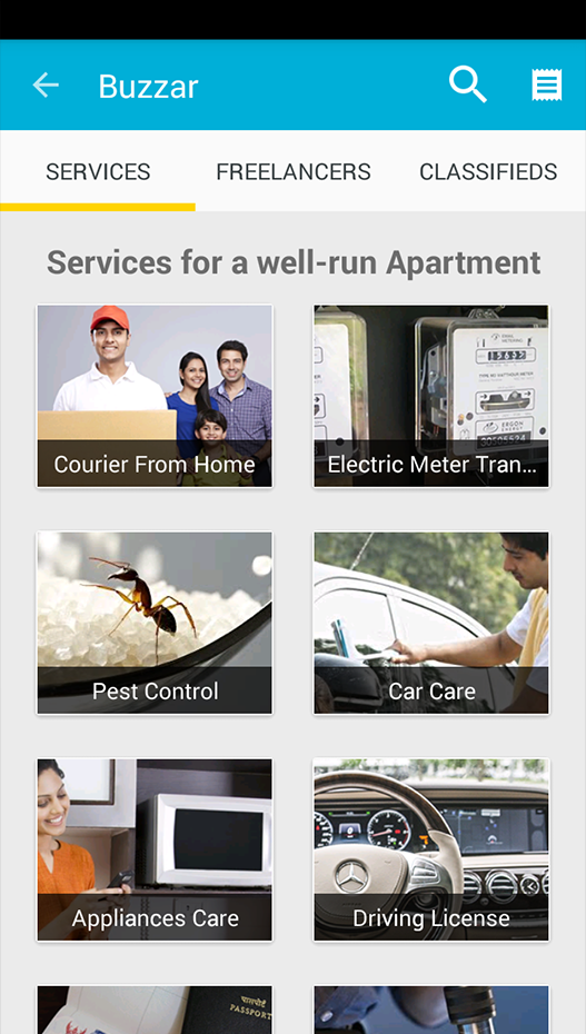 Book home services from a list of 100+ services on Buzzar