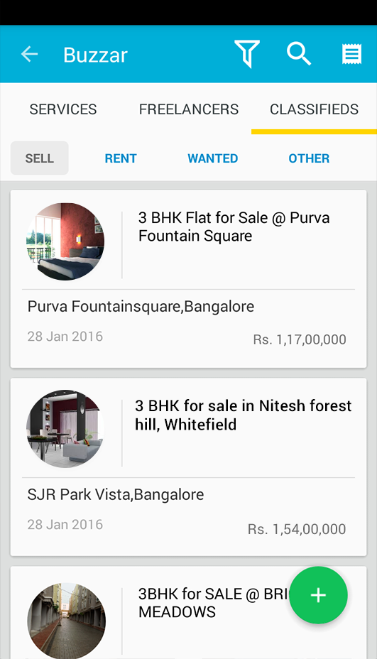 Classifieds to buy/rent/sell Apartments, Furniture