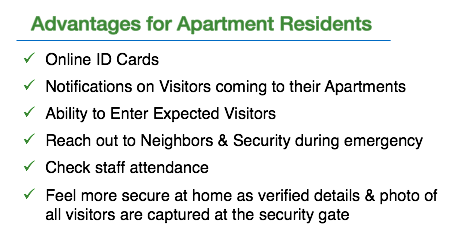 ADDA gatekeeper app advantages for apartment residents
