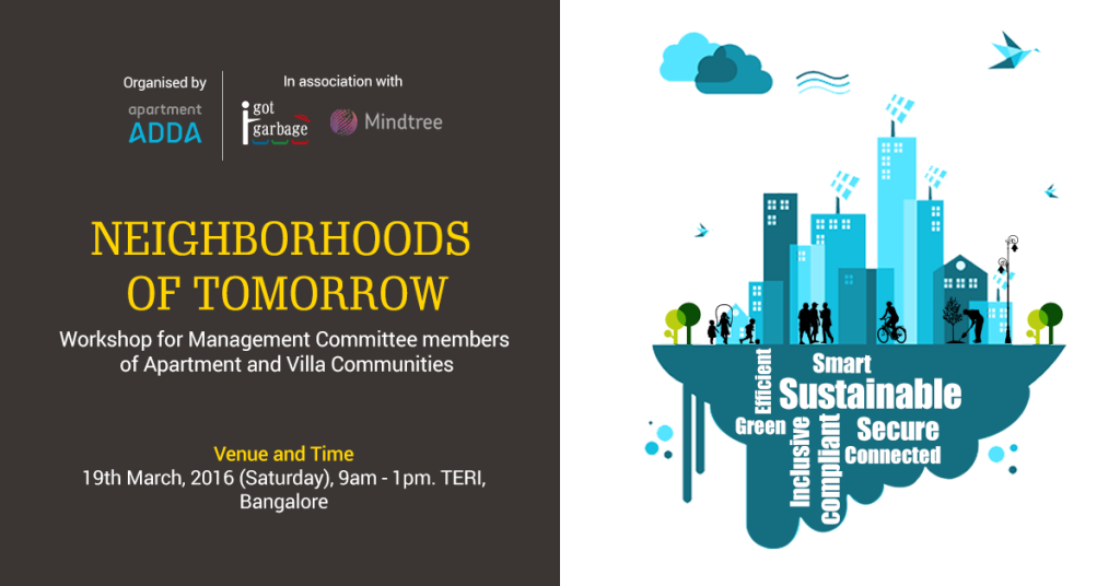 #NeighborhoodsofTomorrow #SmartCities #ADDA #RiseHigh #Green #Neighbourhood