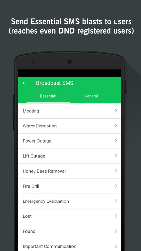 Apartment Management App Send SMS
