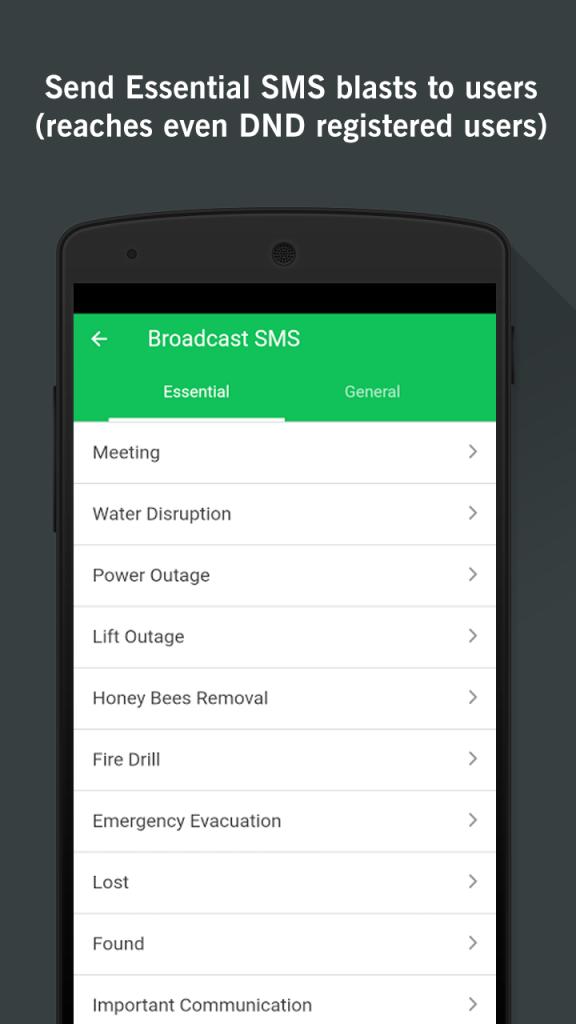 Apartment Management App Send SMS