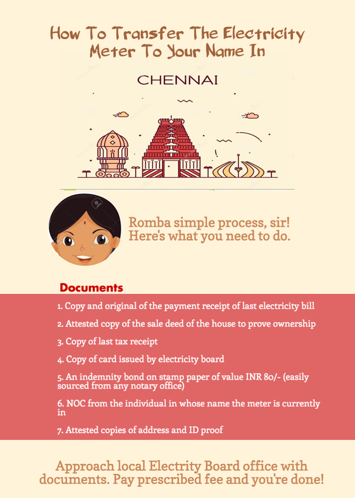 How To Transfer Electricity Meter To Your Name In Chennai?