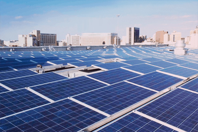 solar panels on apartment