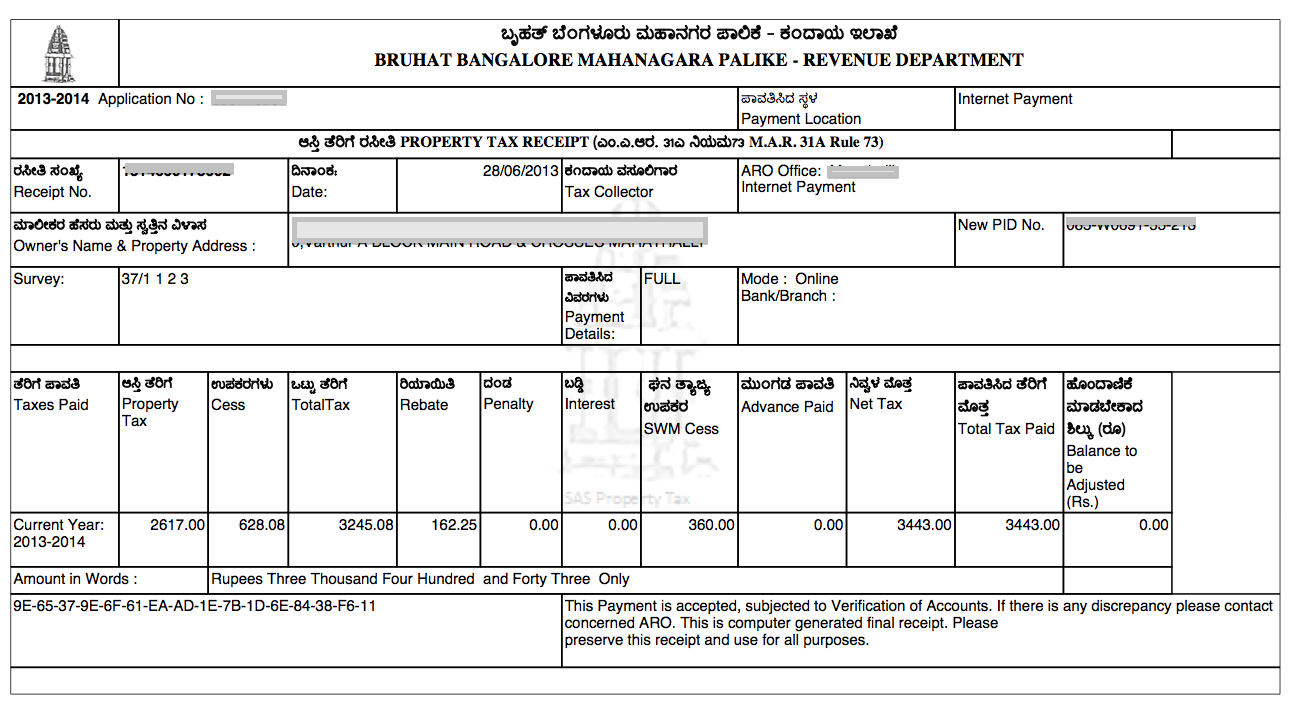 Bangalore Property Tax 2013 14 Adda Blog